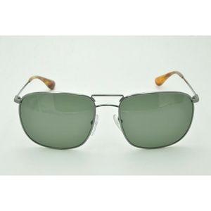 Prada SPR 52T Sunglasses 5AV-6P0 Gunmetal / Green